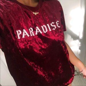 Paradise velvet Tshirt